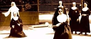nuns playing baseball - cropped
