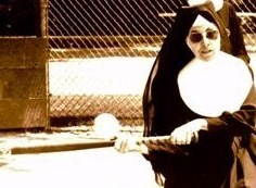 nuns playing baseball - cropped